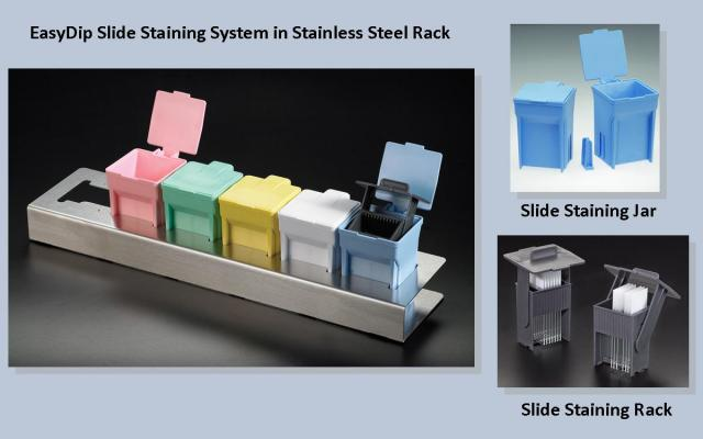 EasyDip Staining Jar and Rack Staining System